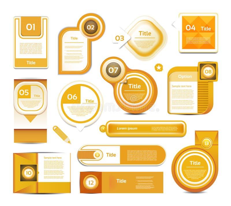 导航进展背景/产品选择或者版本。 库存例证