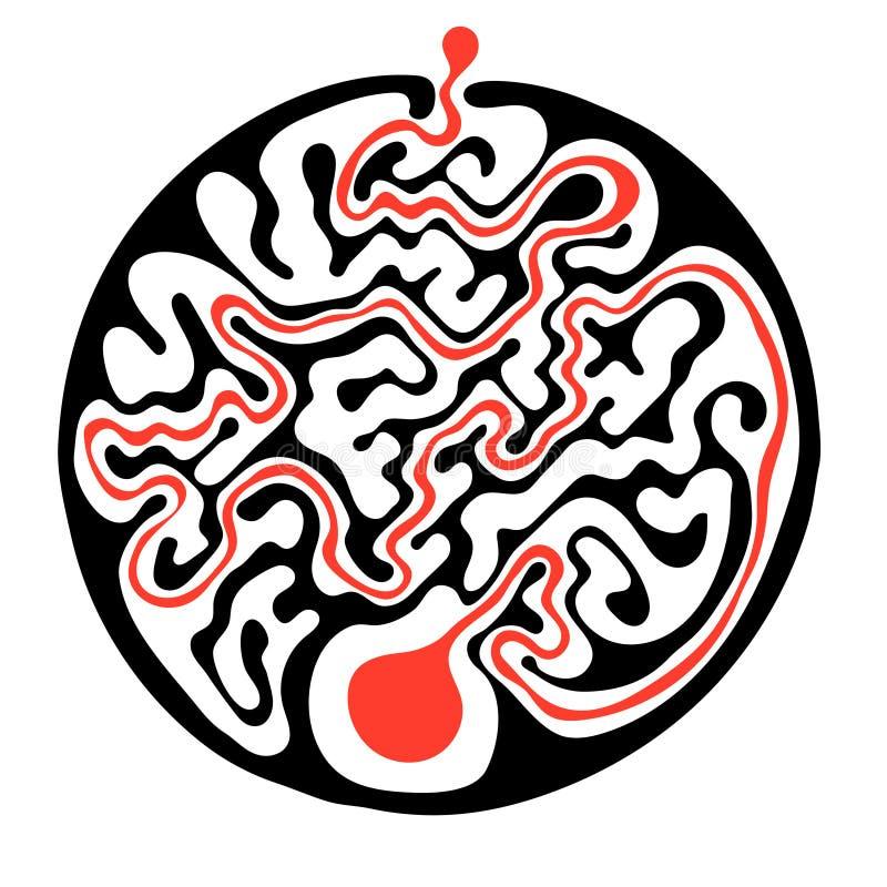 Download 导航迷宫,圆的迷宫例证用解答 向量例证. 插画 包括有 比赛, 路径, 复杂, 来回, 艺术, 谜语, 难题 - 72352509
