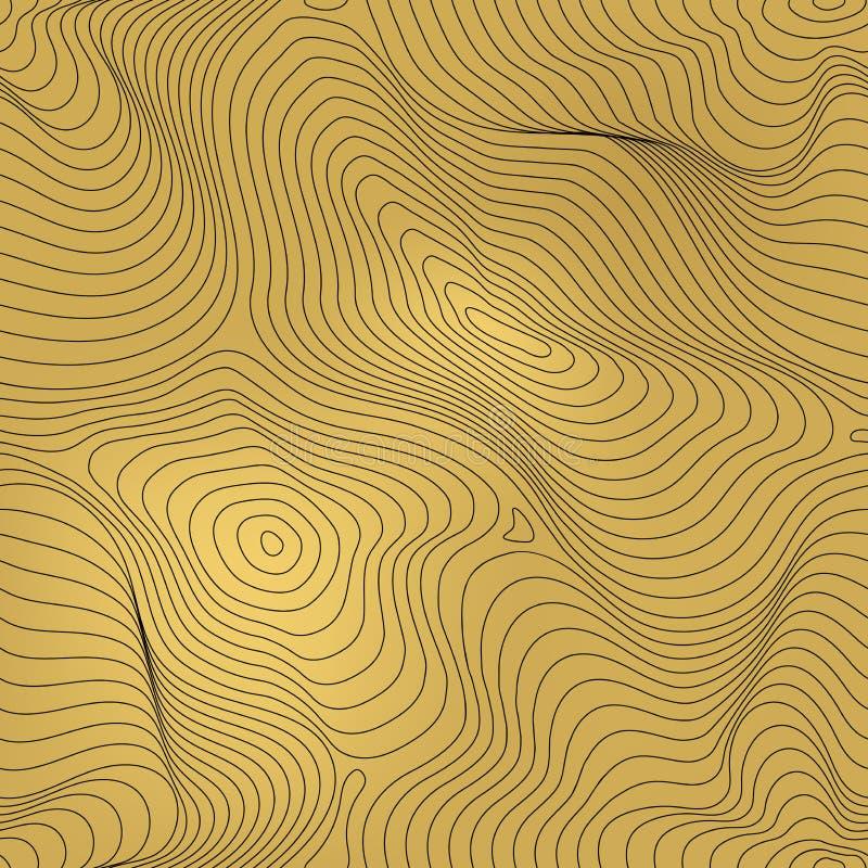 导航金黄几何无缝的样式,金箔背景 皇族释放例证