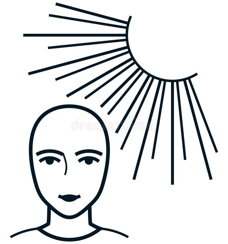 导航面孔在白色隔绝的太阳例证下 皇族释放例证