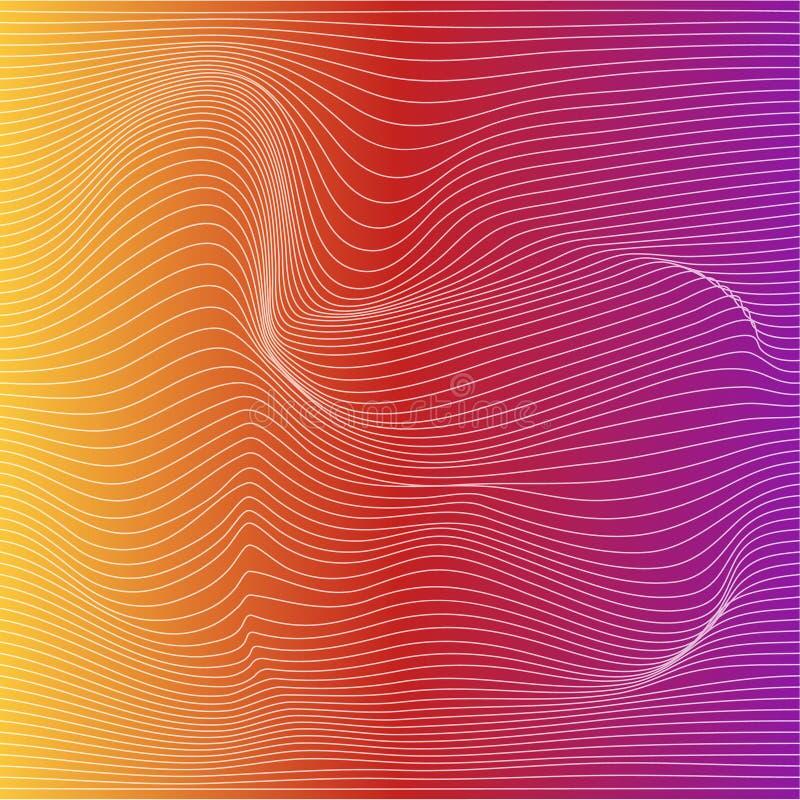 导航颜色条纹变形背景 皇族释放例证