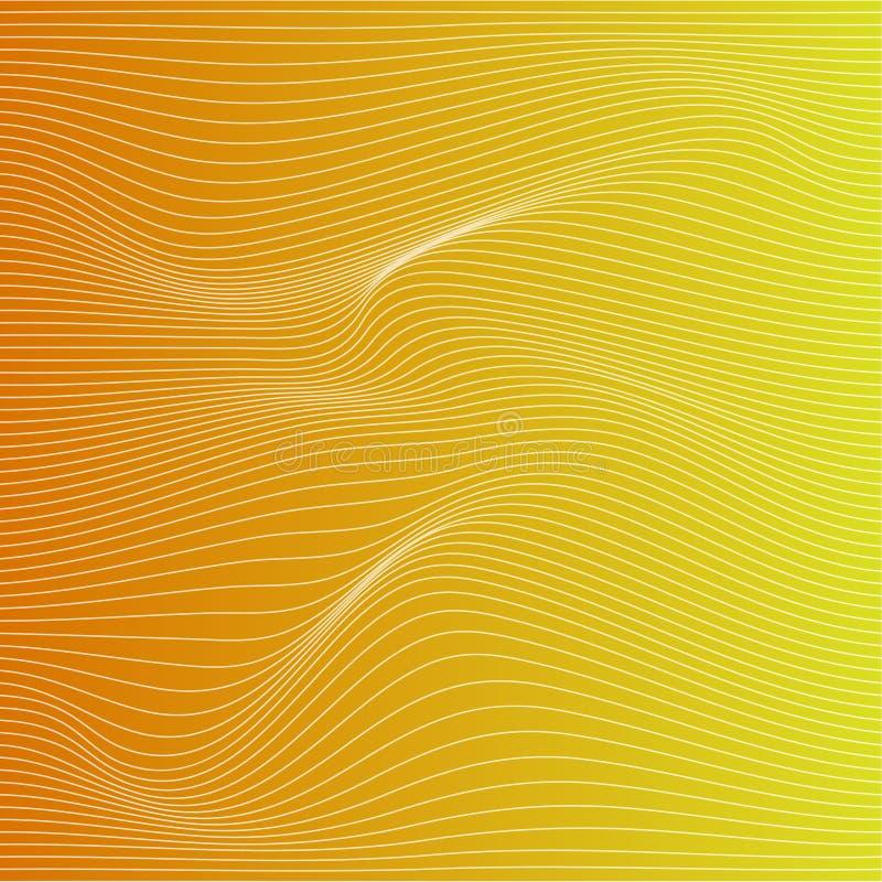 导航颜色条纹变形背景 库存例证