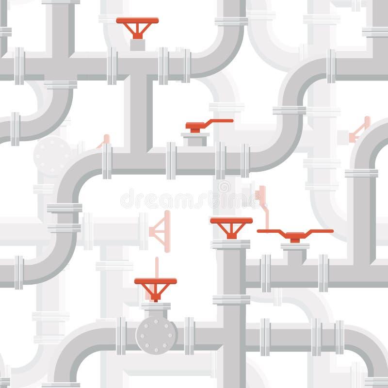 导航水管道系统无缝的样式灰色颜色 向量例证