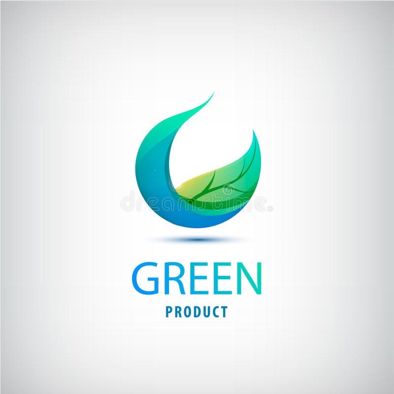 导航绿色叶子,自然,有机象,圈子商标 皇族释放例证