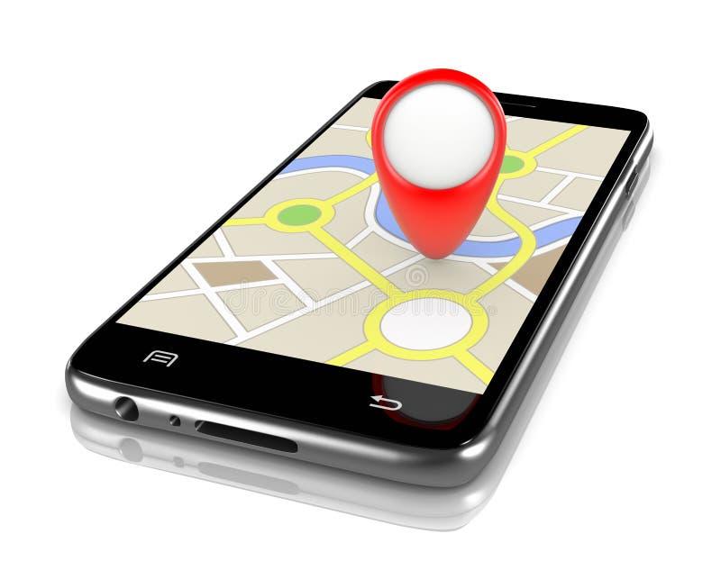 导航系统App 皇族释放例证