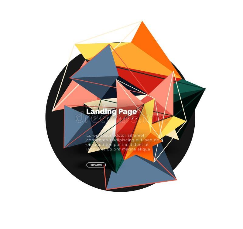 导航3d三角摘要背景,多角形几何设计 库存例证
