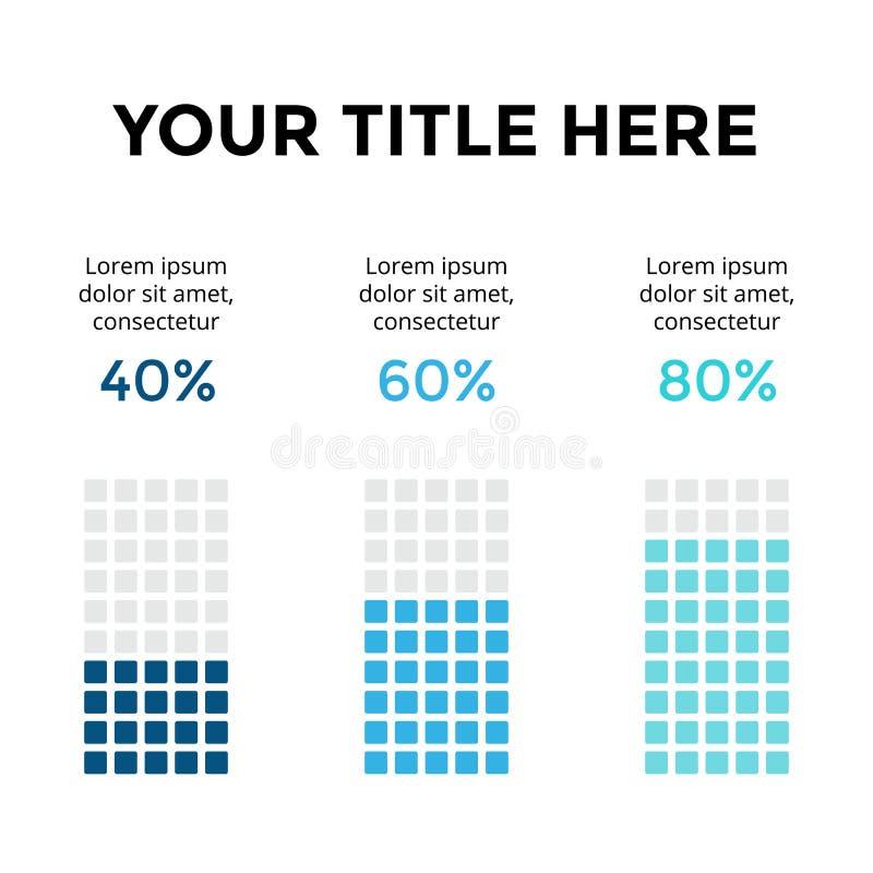 导航infographic,图图,图表介绍 与3个选择,零件,步,过程的企业模板 40, 60 皇族释放例证