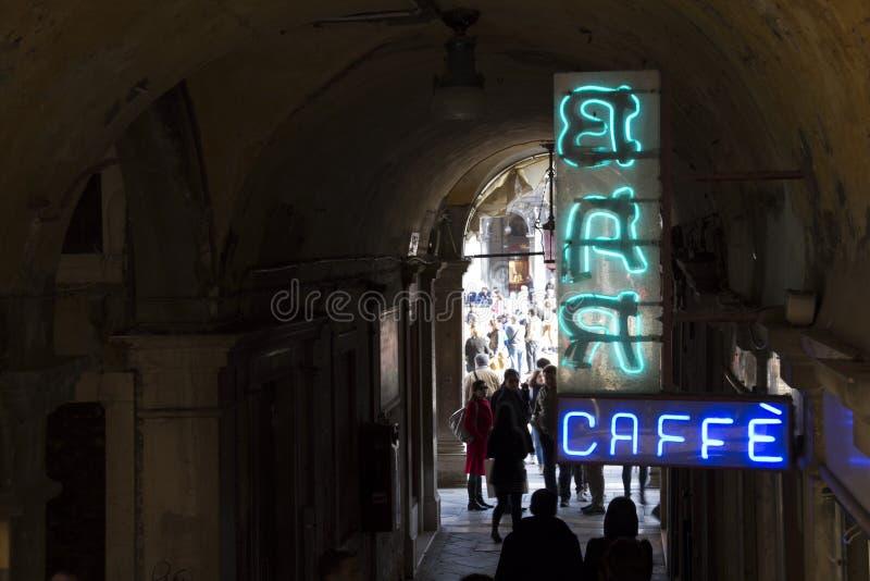导致圣Marco广场的威尼斯 免版税图库摄影