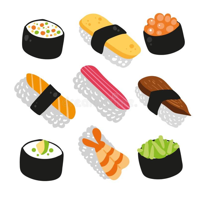 寿司传染媒介汇集设计 向量例证