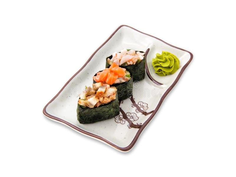 寿司卷不同的集合 图库摄影