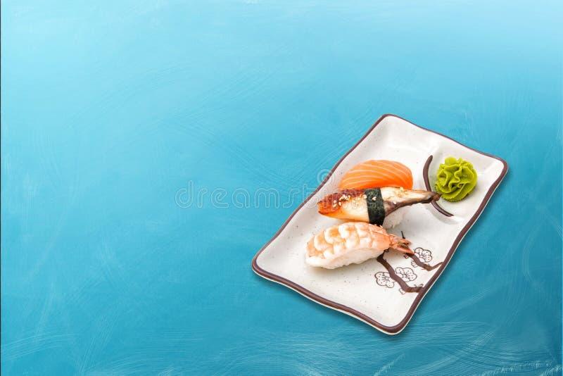 寿司卷变化的集合 免版税库存照片
