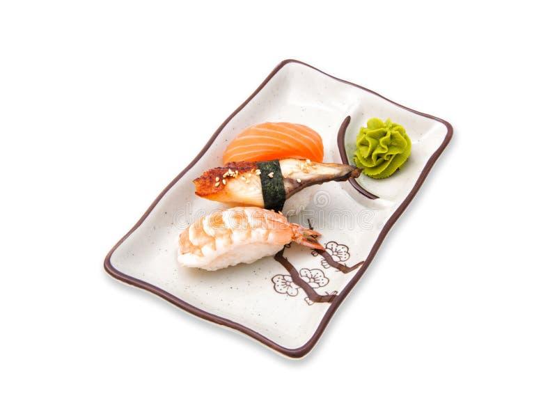 寿司卷变化的集合 库存照片