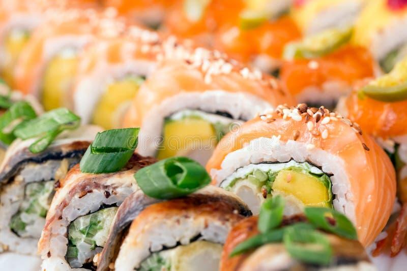 寿司卷背景 免版税图库摄影