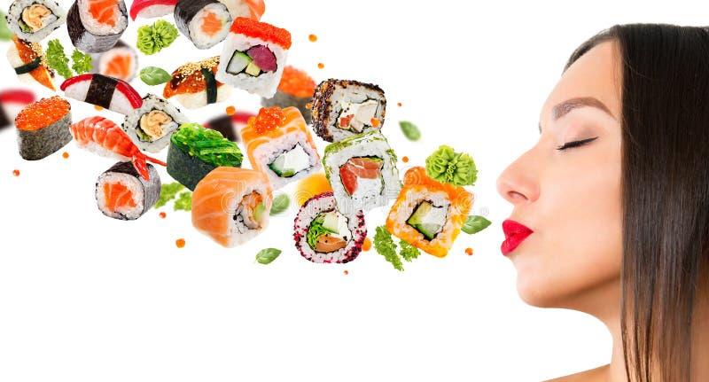 寿司可口片断  图库摄影