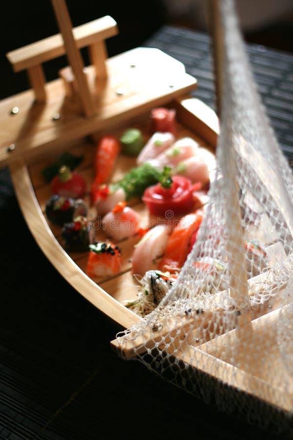 寿司小船 库存图片