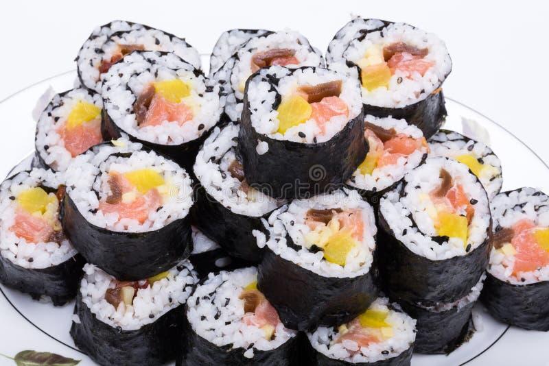 寿司新maki卷 免版税库存照片