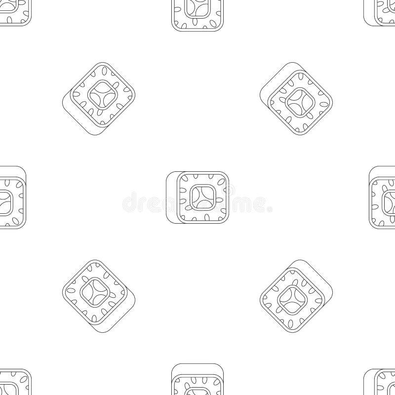 寿司样式无缝的传染媒介 皇族释放例证
