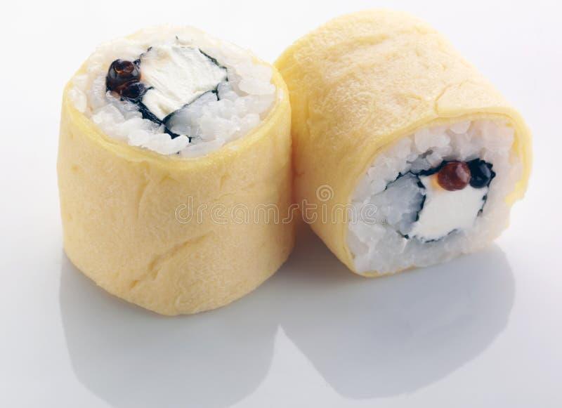 寿司用煎蛋卷 库存图片