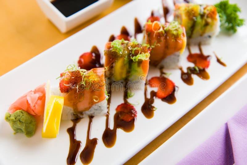 寿司的一个典雅的介绍 库存照片