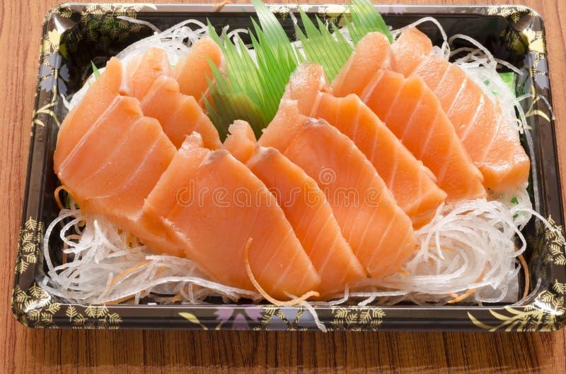 寿司的三文鱼 库存图片