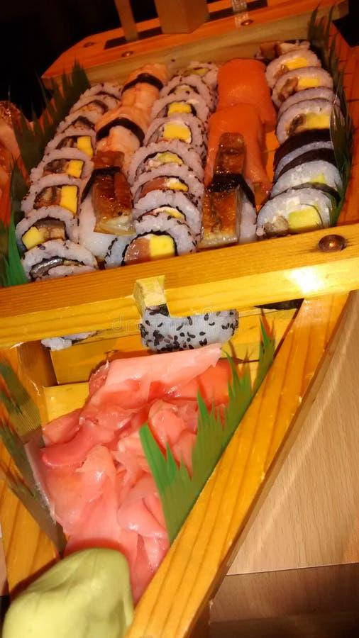 寿司船 库存图片
