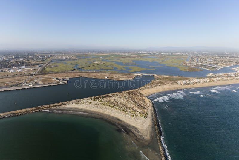 封印海滩全国野生生物保护区天线 库存图片