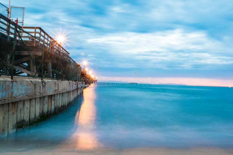 封印海滩码头,加利福尼亚 免版税库存照片