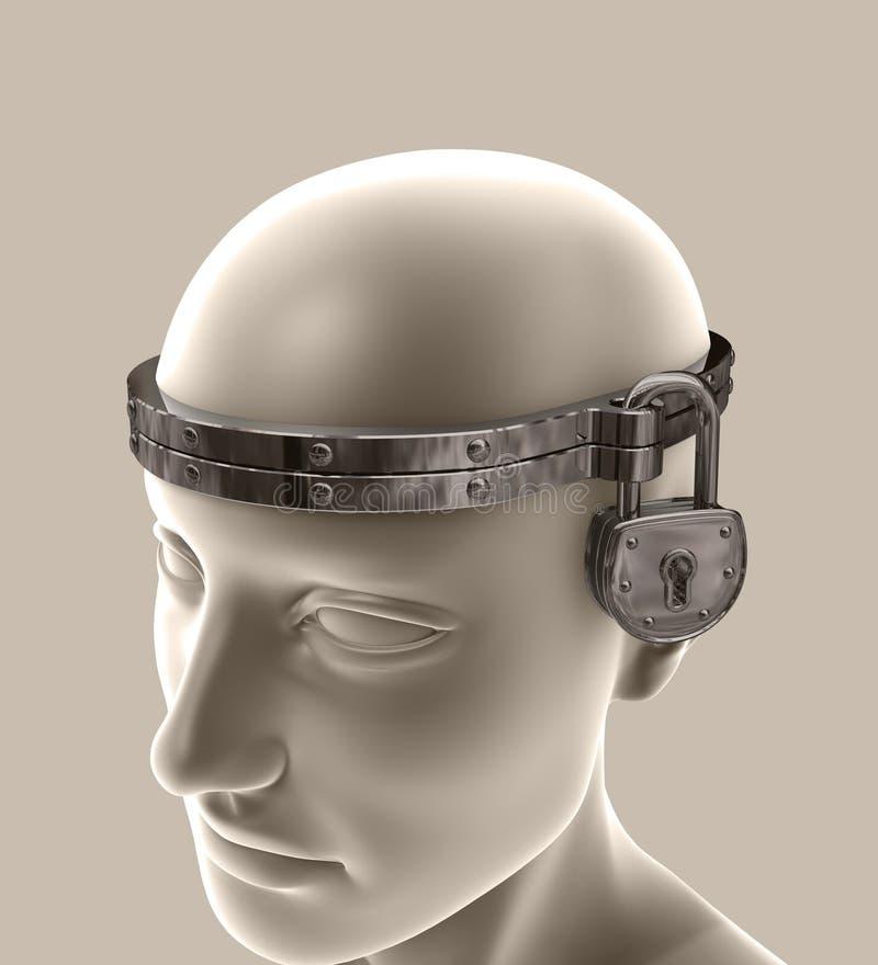 封锁的头脑 库存例证