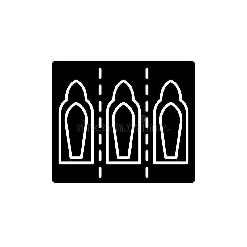 射入压缩黑象,在被隔绝的背景的传染媒介标志 射入胶囊概念标志,例证 库存例证