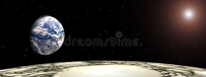 射击从月亮 向量例证