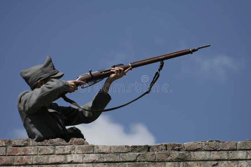 射击战士 免版税库存图片