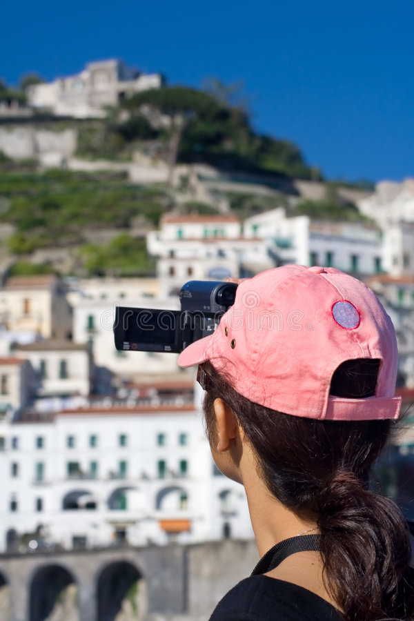 射击游人录影 免版税图库摄影