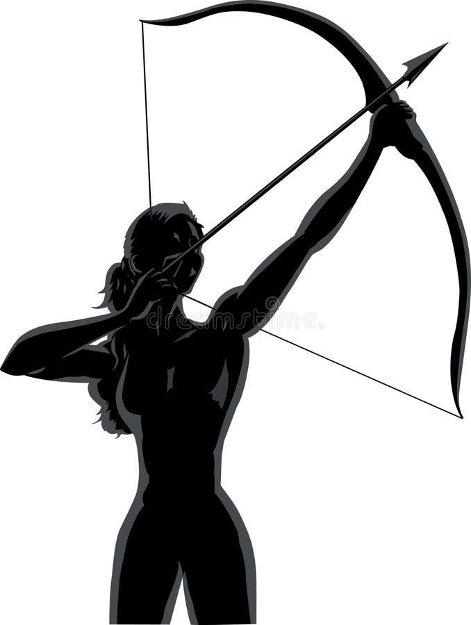 射手座女性分级显示 向量例证