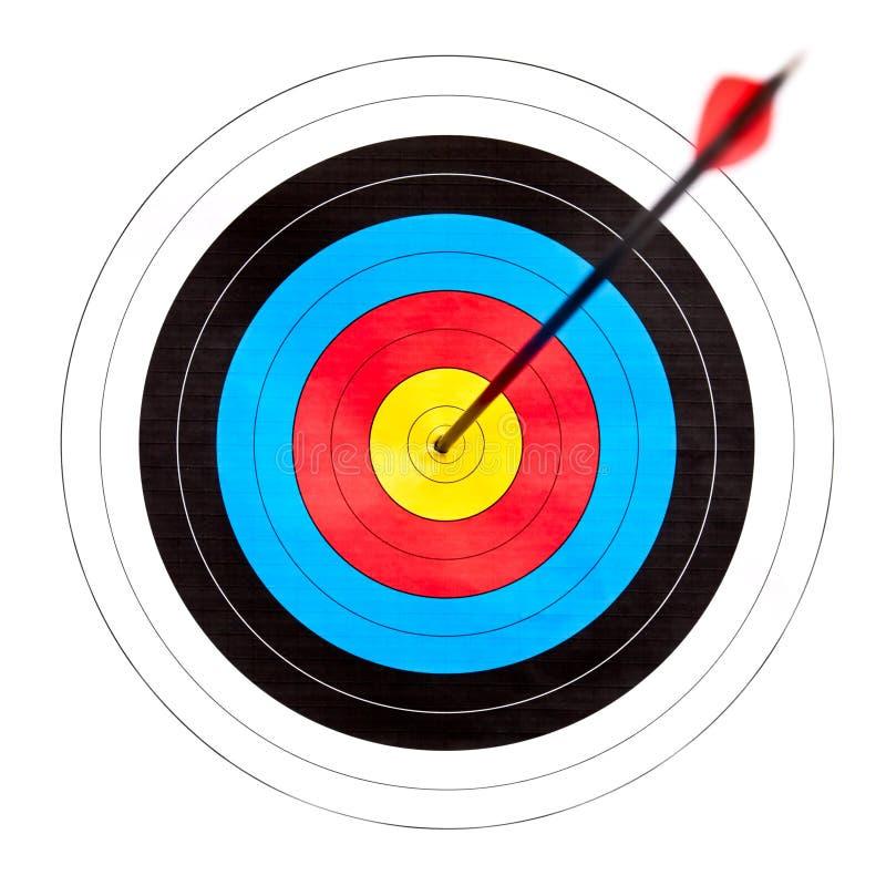 射箭目标 免版税库存照片