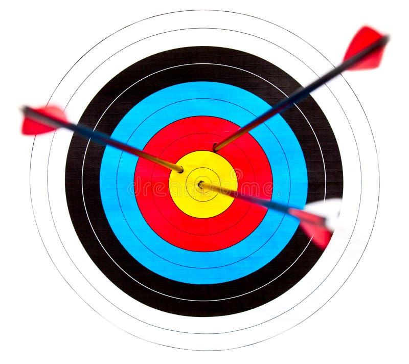 射箭目标 免版税库存图片