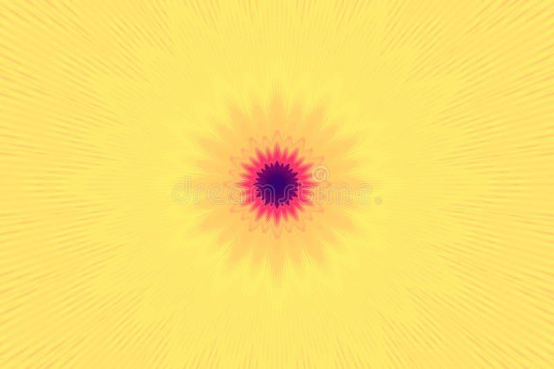 射线光芒背景例证光 爆炸闪光 库存例证