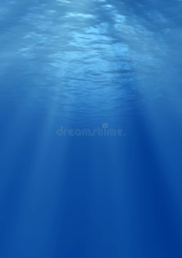 射线晒黑在水之下 图库摄影