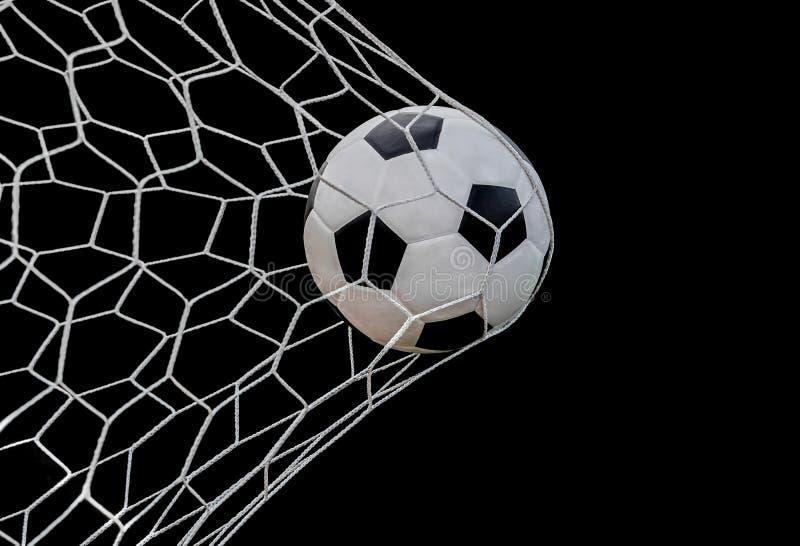 射击在目标的足球 图库摄影