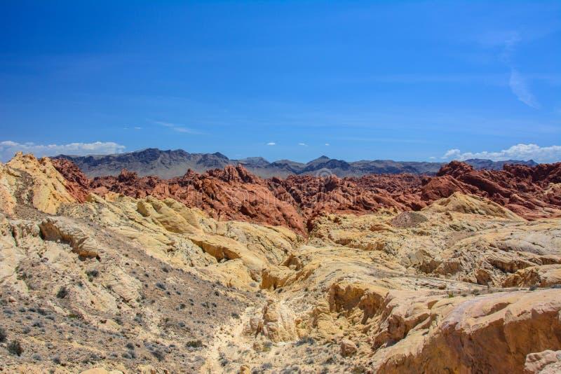射击峡谷/硅土圆顶,内华达,美国 图库摄影