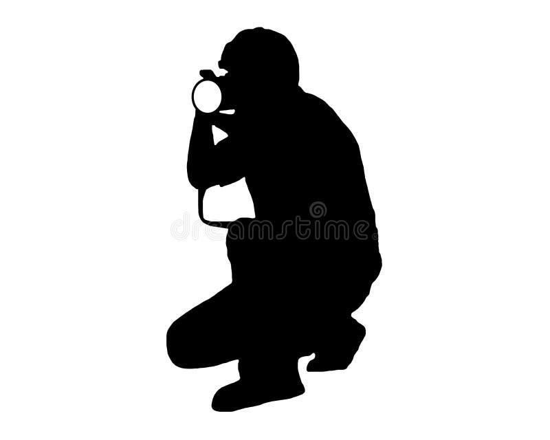 射击模型的摄影师 免版税库存照片