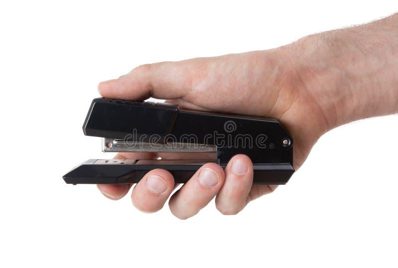 射击的黑订书机关闭 图库摄影