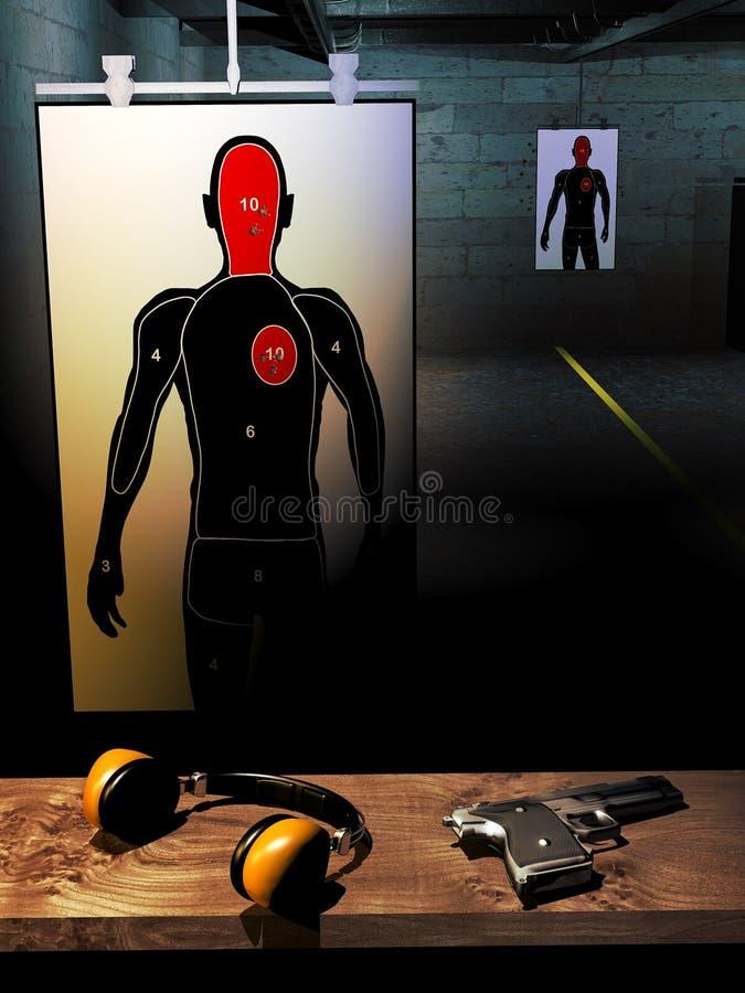 射击训练室 皇族释放例证