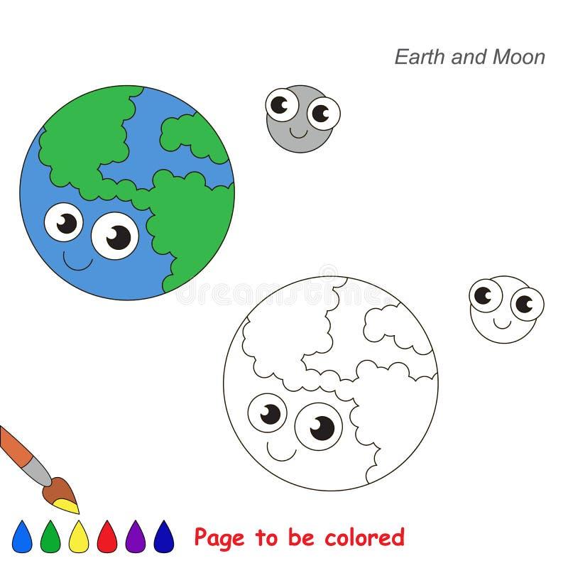 将上色的页,孩子的简单的教育比赛 向量例证
