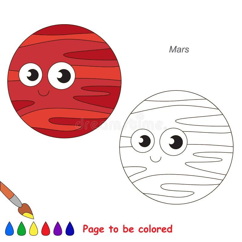 将上色的页,孩子的简单的教育比赛 库存例证
