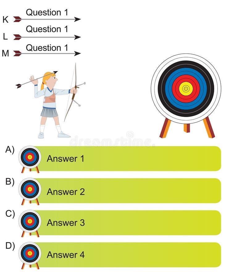 将军-阿切尔和箭头问题 库存例证