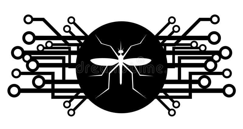 将来的图标昆虫 皇族释放例证