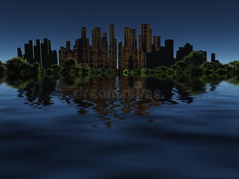 将来的城市 向量例证