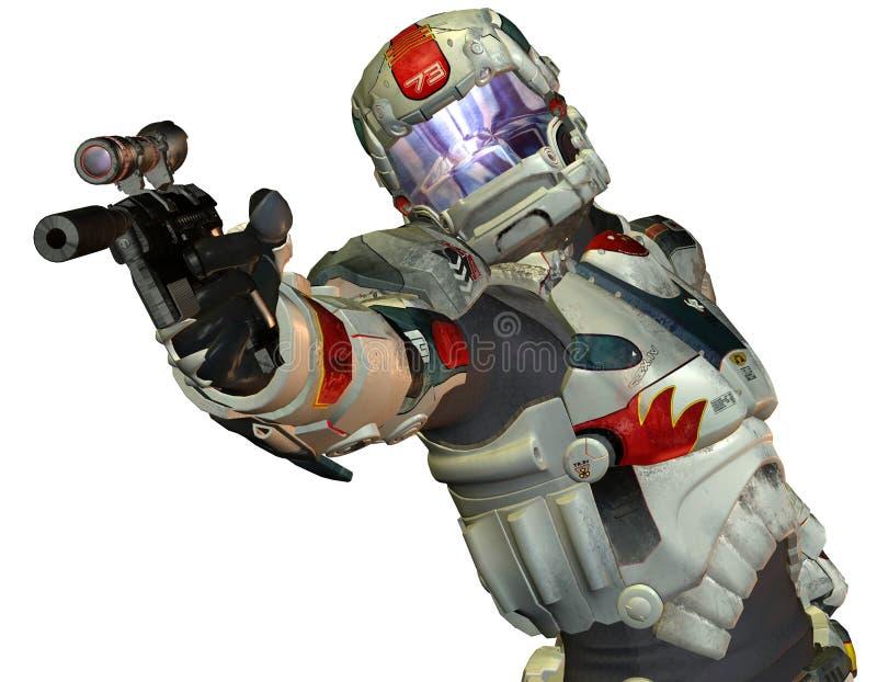 将来的机器人战士 库存例证