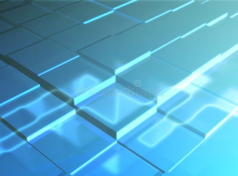 将来的瓦片 向量例证