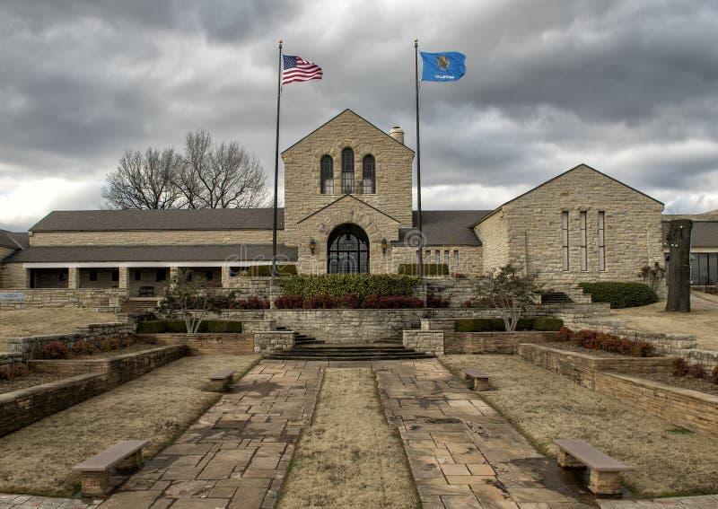 将罗杰斯纪念博物馆, Claremore,俄克拉何马 免版税图库摄影